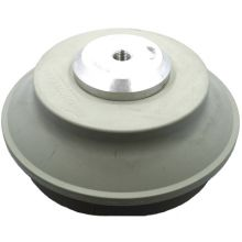 """euroTECH Bellows Suction Cup BSC 150 CO 1.5 folds w/ Baseplate G 1/4"""" (NBR Gray)"""